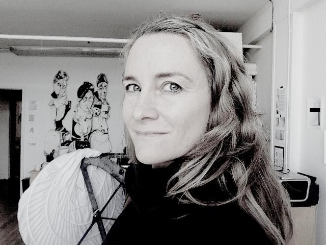Alex Nichols in her space at Studio 17