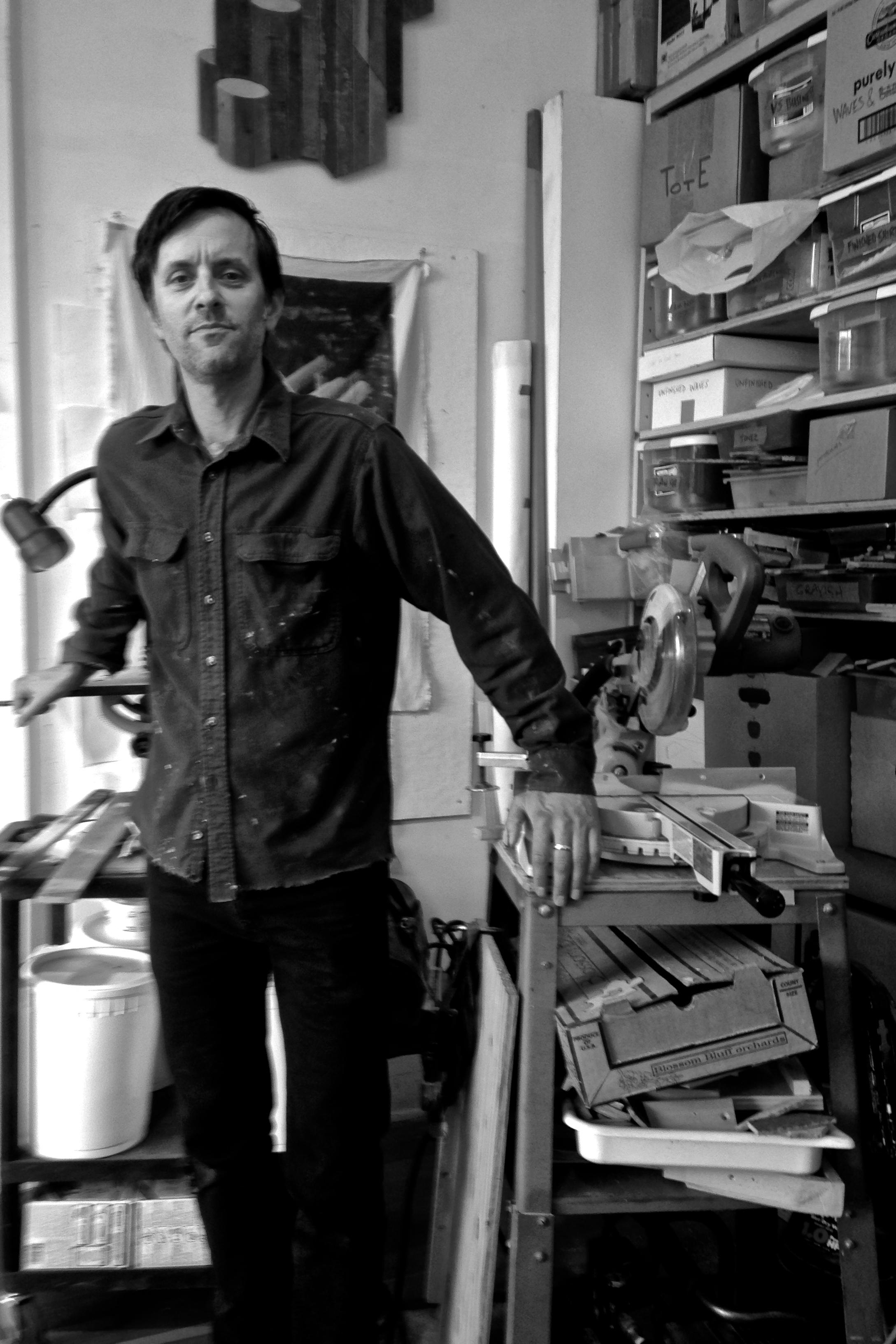 Andy Vogt in his studio