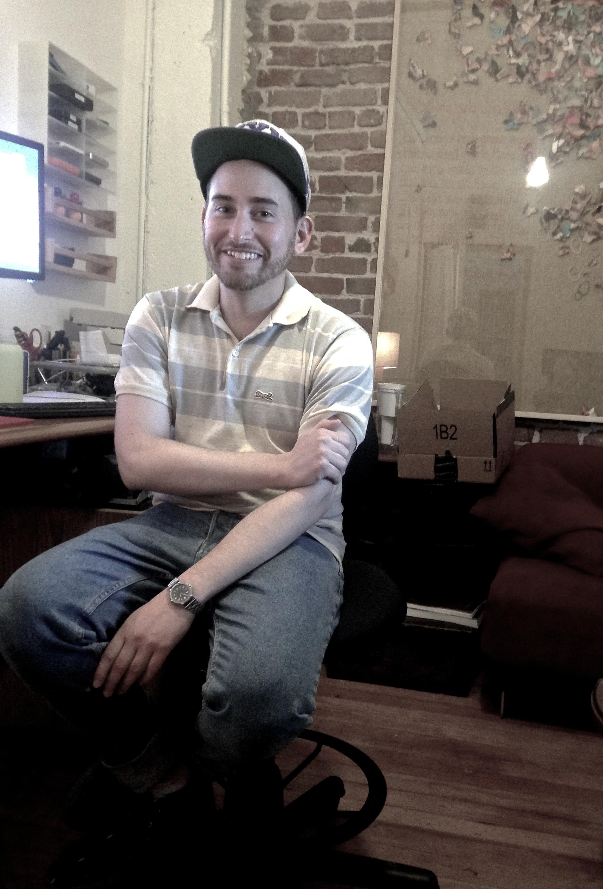 Daniel Lichtenberg in his studio space at Studio 17