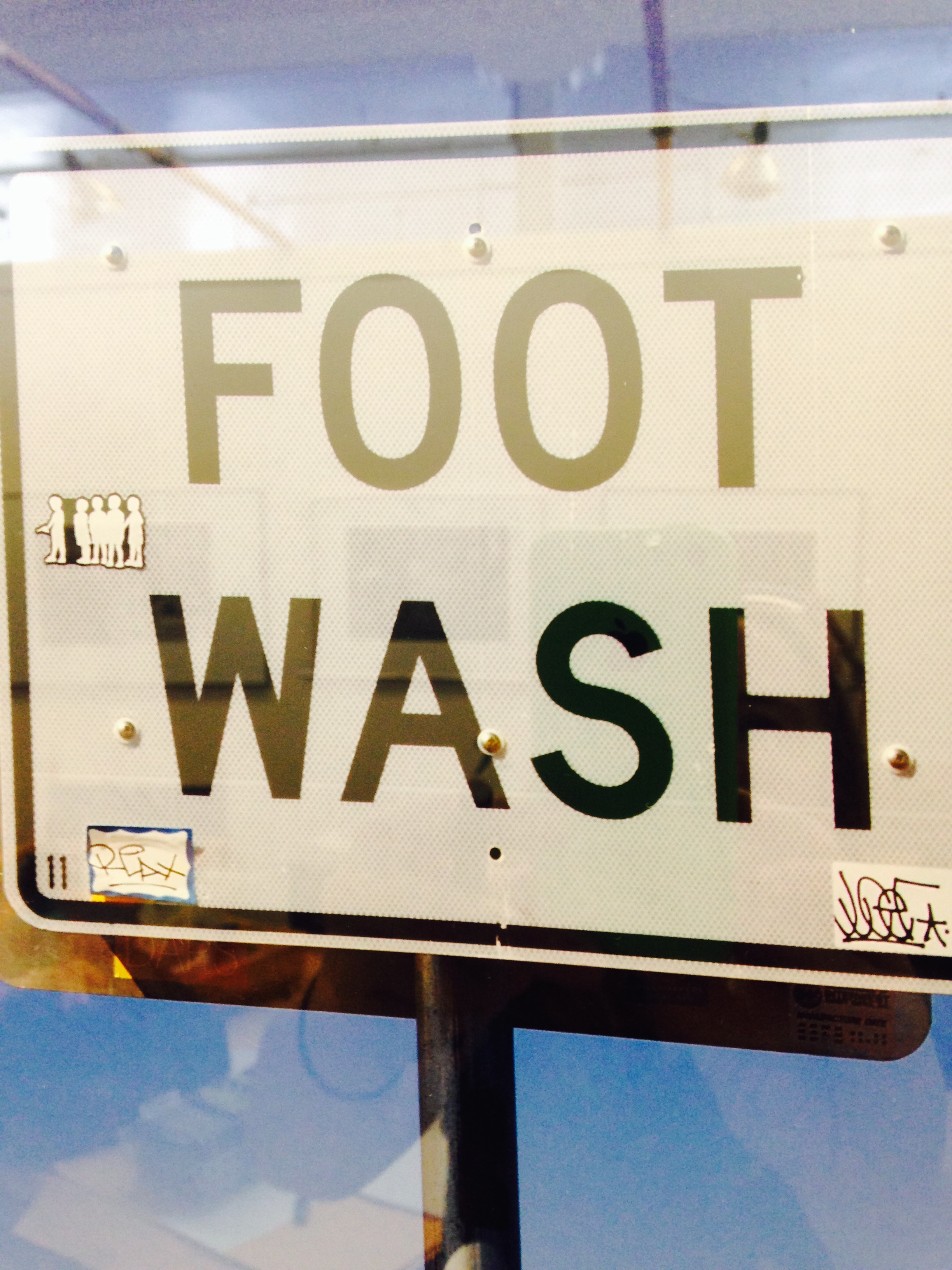 Ellen Rosenthal studio foot wash sign