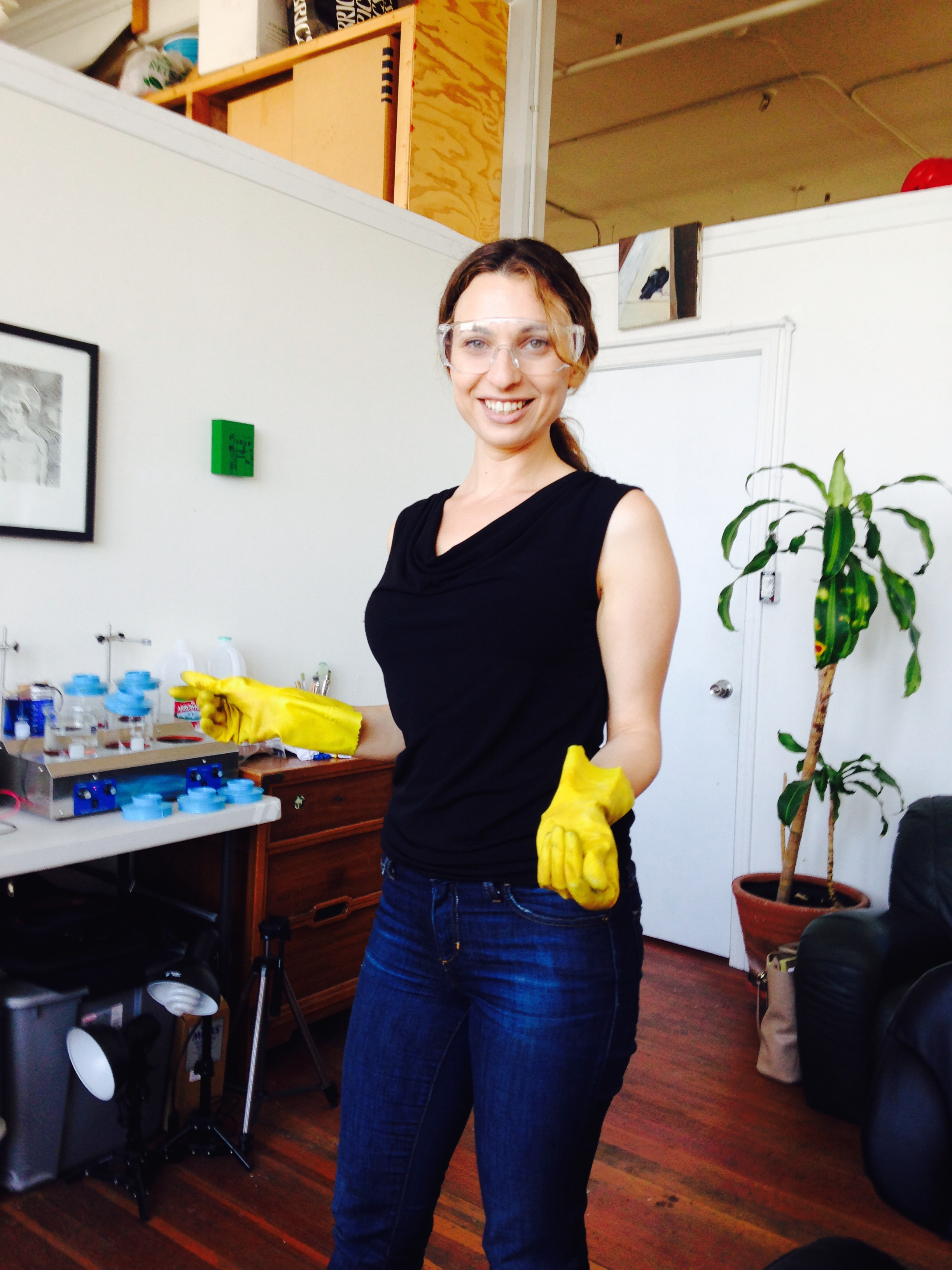 Lauren Marchetti in her artist space at studio 17