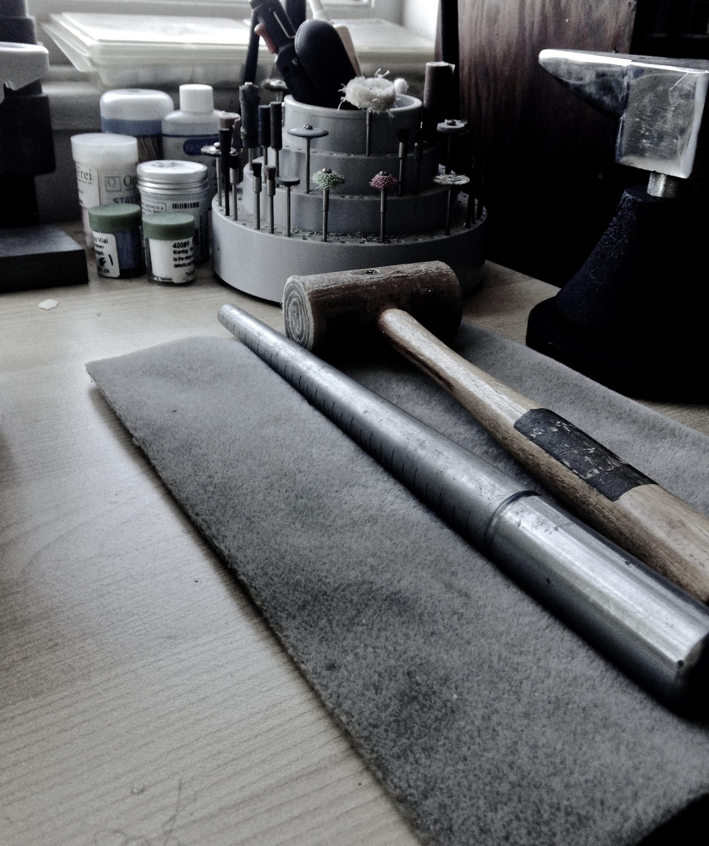 Lauren Marchetti's studio tools