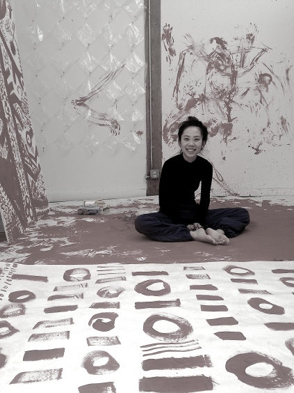 Qinmin Liu in her studio