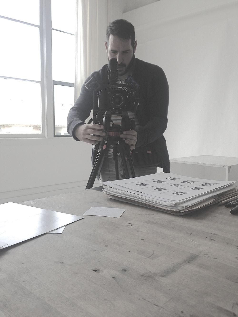 Rick D'Elia in his artist studio at Studio 17