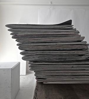 Stack of journals in Studio 17