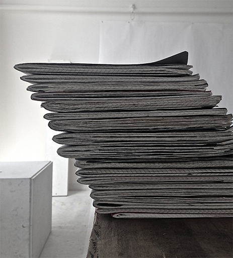 Stack of journals in Studio 17
