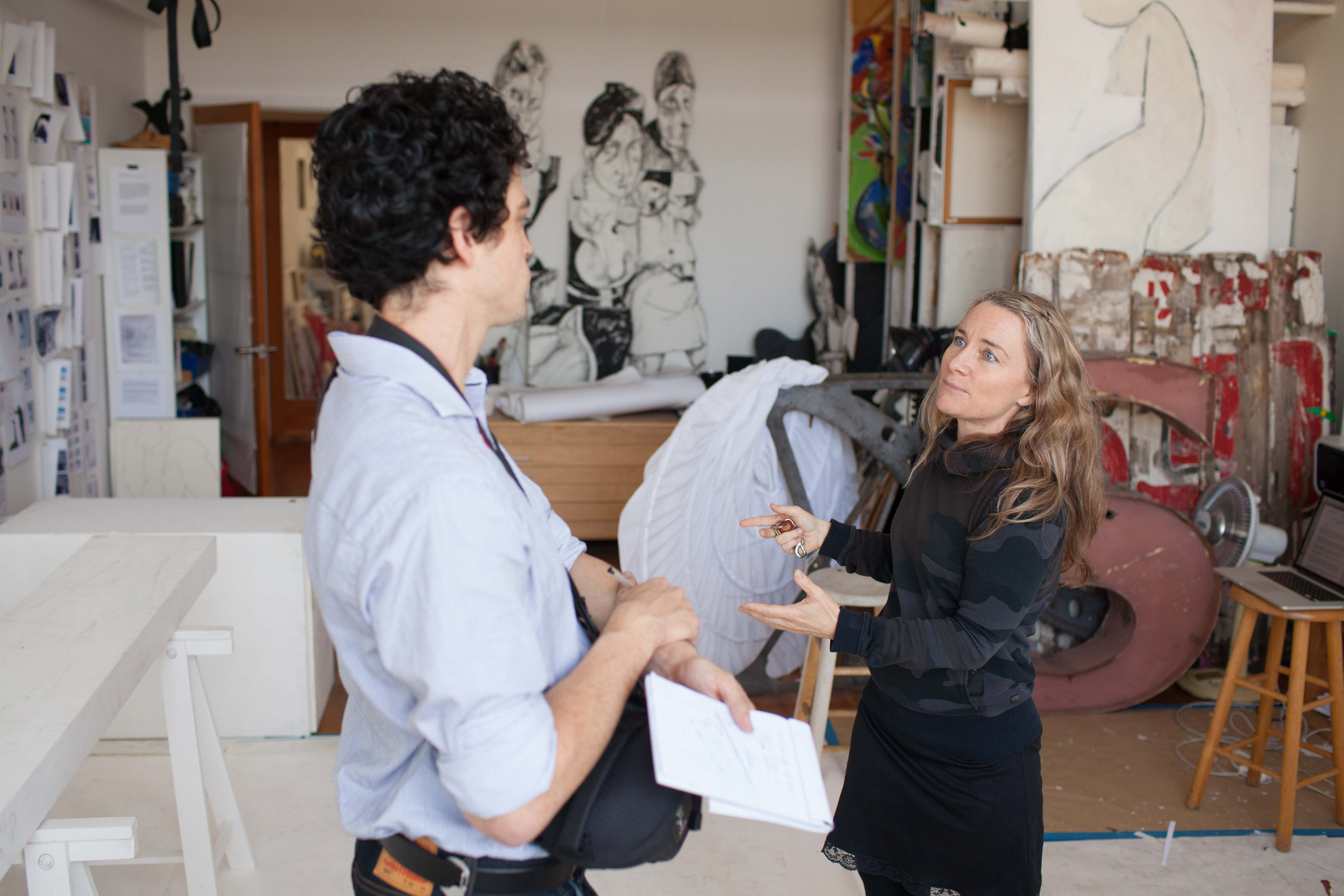 Alex conducting interviews for The Artists Space